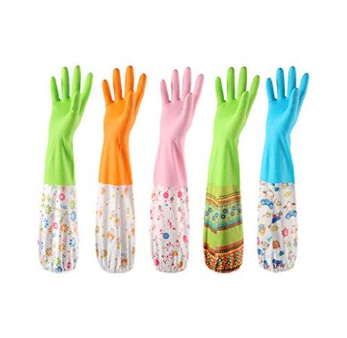 3 paires de gants de lavage de vaisselle Gants plus épais en caoutchouc caoutchouc Latex Latex