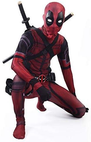 Werty Cosplay Ropa Traje De Deadpool Cosplay Disfraz De Lycra Medias Siamesas Impresión Digital 3d Vestido Navideño Apretado De Halloween Para Adultos Niños Desgaste Kid Xl Amazon Es Hogar
