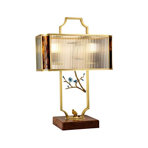 Villa - Lámpara de Mesa de Cobre, Decorativa, Moderna, Minimalista, para Dormitorio, lámpara de Noche, lámpara de Mesa clásica