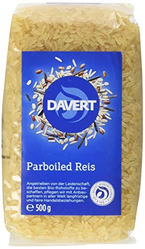 Davert Parboiled Reis Langkorn weiß, BIO 4er Pack (4x 500g)