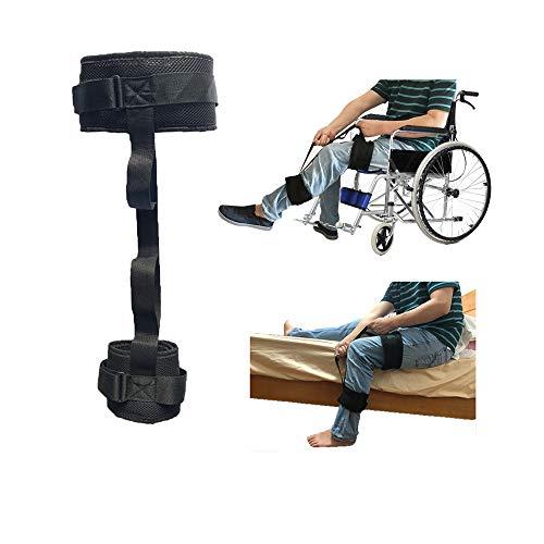 """Correa elevadora para piernas Elevador para discapacitados Silla de ruedas Dispositivos de elevación para ancianos Pie Rodilla Muslo Lazo de hasta 25""""con empuñadura"""