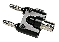 Fluke BNC to Double Stacking Banana Plug, Nickel-Plated Finish, 122 Degree F Temperature by Fluke