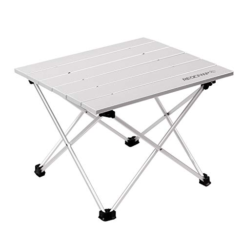 REDCAMP Folding Table for Camping, Foldable Roll UP Table, Aluminium Garden Table for Picnic BBQ Outdoor Kitchen Coffee Beach Fishing, Medium