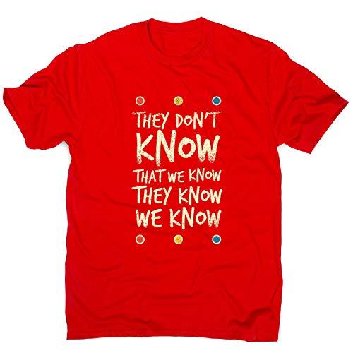 Graphic Gear Camiseta para Hombre con Texto en inglés «They Don't Know Friends»