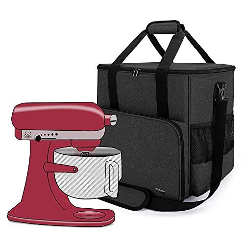 Luxja Sac de Rangement pour KitchenAid Robot pâtissier et Accessoires supplémentaires (Convient aux 4,3 Litre et de 4,8 Litre KitchenAid Robot pâtissier), Noir