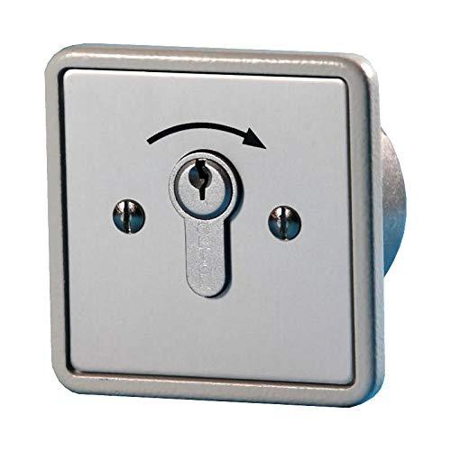 BAUER - Schlüsselschalter 1 Schliesser, Unter Putz | Taster, Sicherheit, für Hörmann, Garagentor, Handsender