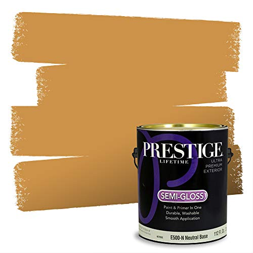 Prestige Paints Exterior Paint and Primer In One, 1-Gallon, Semi-Gloss, Comparable Match of Sherwin Williams* Golden Rule*