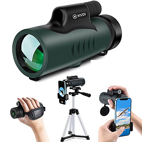 High Power 10-30x42 Monocular Telescope,Monoculars with Phone Holder & Tripod Compatible with iPhone Android Smartphone,BAK4 Prism for Adult Kid Outdoor Bird Watching Wildlife Hunting Traveling