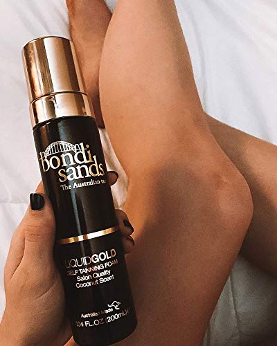 Bondi Sands Liquid Gold Self Tanning Foam | Lightweight + Quick Dry Foam Enriched with Argan Oil, Provides a Hydrated Streak-Free Tan | 7.04 Oz/200 mL