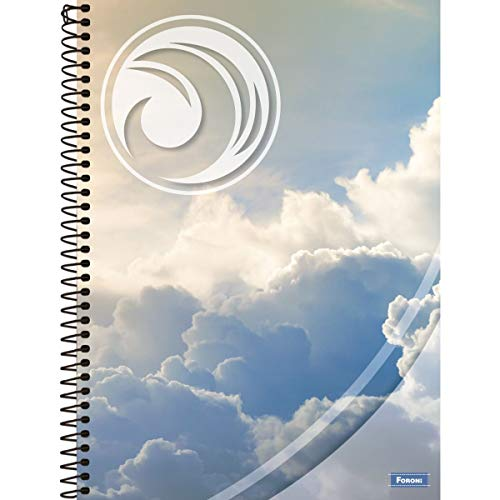 Caderno de 20 Matérias, Foroni 8034, Multicor, Pacote com 2 Unidades