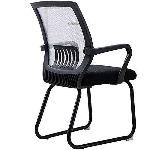 HJJK Sillas de ocio silla de oficina, silla de arco Familia personal de conferencias Silla Silla de Estudiantes de malla transpirable 5 colores fuertes, duraderos, color: negro