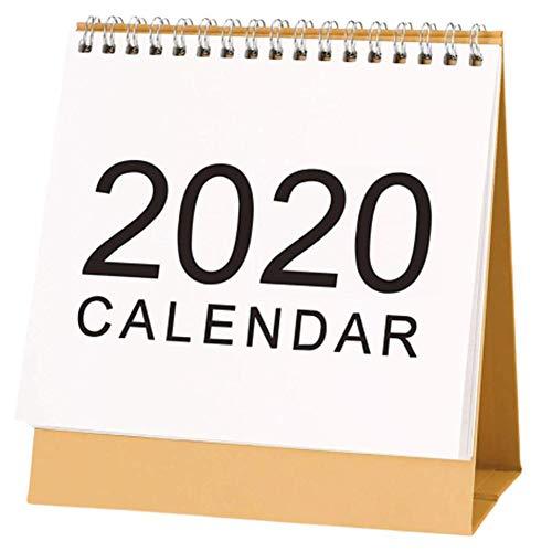 Liteness Calendario da Tavolo, Calendario da scrivania, Design Semplice Stand up Calendario da scrivania in Carta per Insegnante, Famiglia o Ufficio Commerciale, 2019.09-2020.12