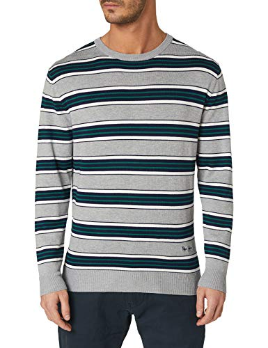 Pepe Jeans Charles Suéter de Jersey, 905LIGHT Grey, M para Hombre