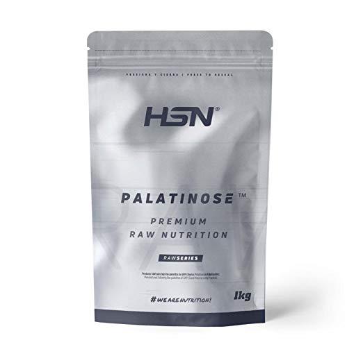 Palatinosa (Isomaltulosa) de HSN   Muy Bajo Índice Glucémico, Carbohidratos de Lenta Asimilación Ideal para Actividades de Larga Duración   Vegano, Sin Gluten, Sin Lactosa, Sin Sabor, En Polvo, 1Kg