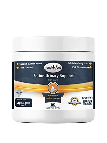Jungle Pet Feline Urinary Support - Tuna Flavored - Made for Cats - for Bladder Muscle Function - Great TASTING, Brown
