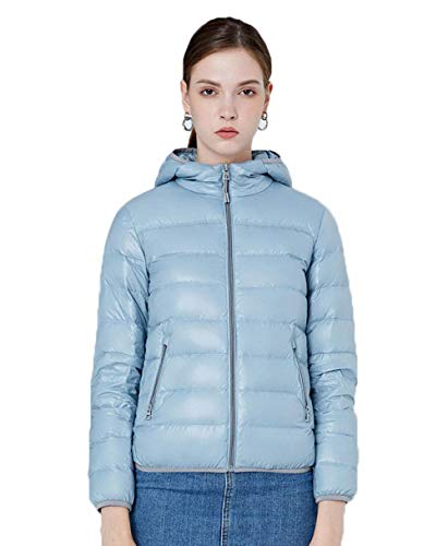 N / A The Herren Damen Jacke Daunen Jacke Winter Outdoor Down Jacket Winddicht Face Funktionsjacke Warme Parka Weste Vest FaceBaumwolle Mantel Steppjacke-Blue_Large
