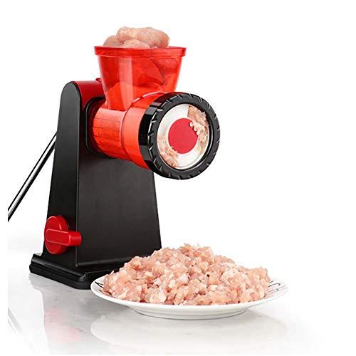 Manuel De La Viande Hachoir À Viande Multi-Fonction De Coupe De Légumes Concasseur À Domicile Cuisine Machine À Découper Lavement (Rouge)