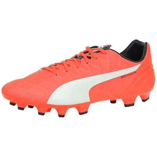 Puma Evospeed 4.4 FG, Botas de fútbol para Hombre, Arancione (Orange (Lava Blast-White-Total Eclipse 01), 42