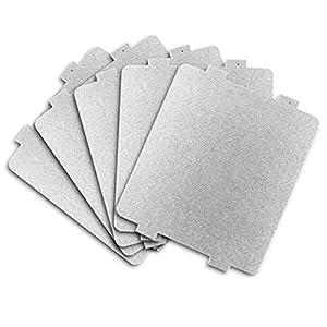 5 pièces/Ensemble pièces de Rechange épaissie Plaque de mica Plaque de Four à Micro-Ondes Isolation Gris 10,8 * 9,9 cm