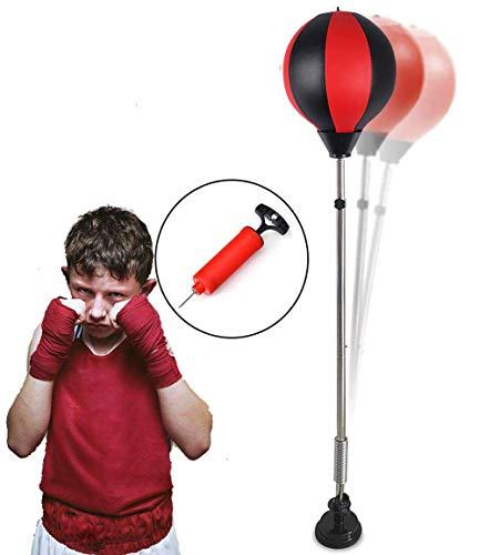 Qdreclod Punchingball Standboxsack Boxsack Set Höhenverstellbar Sandsäcke Punchingbälle Boxen Boxstand Punching Stand Punchingball Set mit Pumpe für Einsatz im Fitness-Studio sowie zu Hause