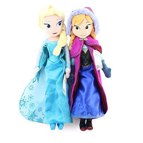 siqiwl Plüschtier 50cm 2 Teile / Los Plüsch Puppe Einzigartige Personen Nette Mädchen Spielzeug Anna & ELSA Spielzeug Prinzessin Puppe Mädchen Geburtstag Gehört