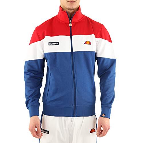 ellesse Caprini Trainingsanzug Oberteil Blau/Weiß/Rot - Blau, XS