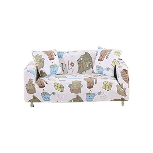 Wyxy Funda de sofá Universal Elastic Universal Nordic Style Funda Protectora de cojín de sofá con Todo Incluido (Color: Blanco, Tamaño: 4 sitzer)