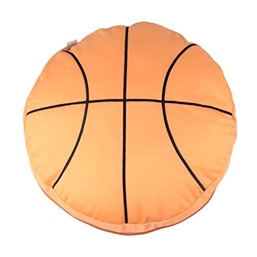BESPORTBLE Almohada de Baloncesto Deportes Almohadas de Relleno Cojín de Espalda Redonda para La Decoración Del Sofá de La Oficina en Casa
