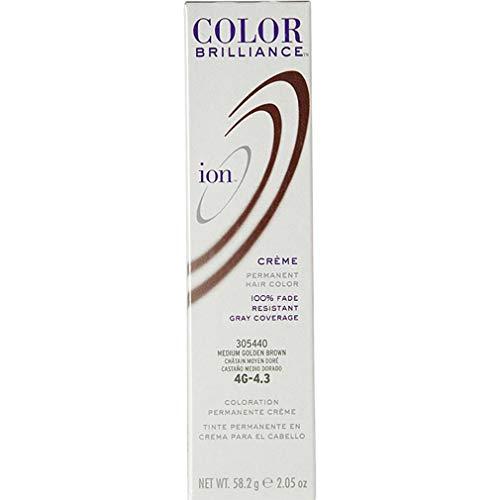 Ion 4G Medium Golden Brown Permanent Creme Hair Color 4G Medium Golden Brown