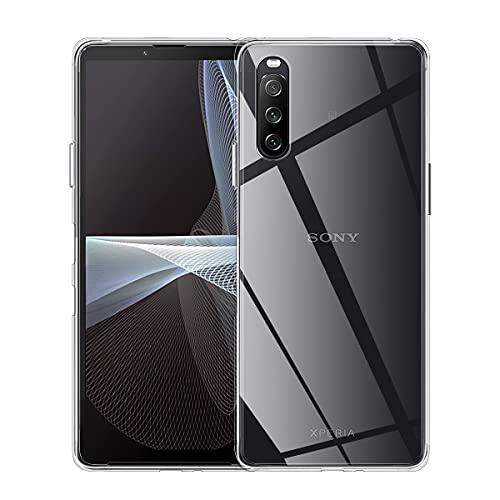 ELYCO für Sony Xperia 10 III 5G 2021 Liquid Hülle, Superdünnes Softschale R&umschutz Anti-Fall Anti-Fingerabdruck TPU Handyhülle Durchsichtige Schutzhülle Hülle für Sony Xperia 10 III [Transparent]