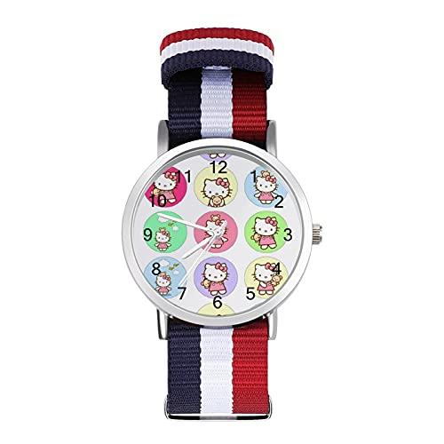 Los relojes de dibujos animados de Hello Kitty son impermeables, versátiles, informales, para estudiantes, hombres y mujeres, deportes, moda y temperamento simple anime dibujos animados