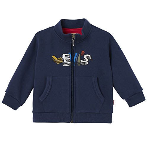 Levi's Baby-Jungen Zipper FLOCKY Strickjacke, Blau (Dress Blue 48), 6-9 Monate (Herstellergröße: 6M)