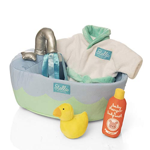 Manhattan Toy Stella Collection 2021 Soft Bath Playset with Accessories for 12' and 15' Soft Dolls