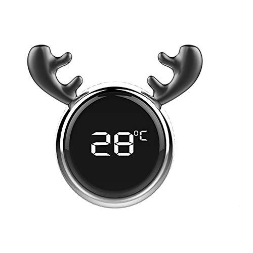Auto Thermometer, MoreChioce Elektronisch Digital Touchscreen Thermometer Auto Innendekoration Zubehör Ornaments Auto Entlüftungsclip Dekoration,Silber