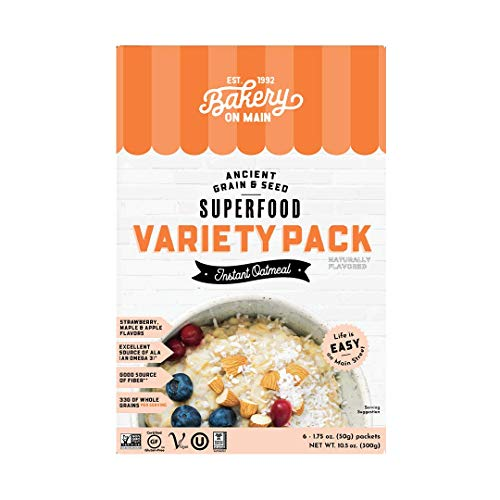 Bakery On Main, Gluten-Free Instant Oatmeal, Vegan & Non GMO - Variety Pack, 10.5oz (Pack of 1)