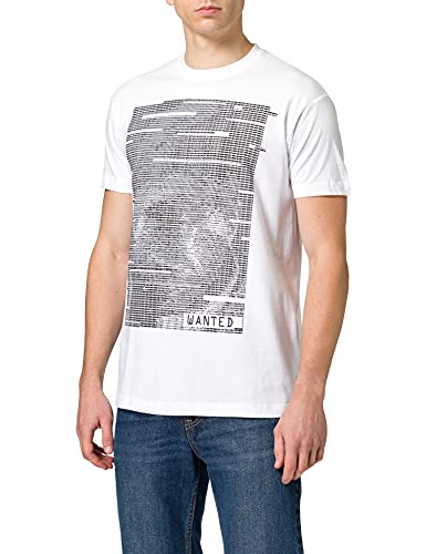 Le Vert Sacr Wanted T-Shirt, Blanc, S Homme