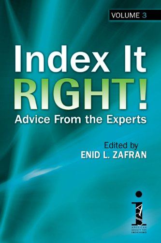 Image of Index It Right! Advice From the Experts, Volume 3