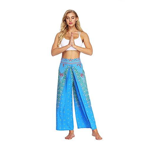 YWLINK 2018 Damen Kleidung,Frauen BeiläUfige Sommer Lose Yoga Hosen Thai Indonesische Art Baggy Boho Aladdin Overall Pluderhosen
