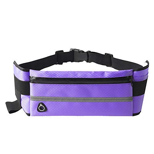 Running Belt Waist Pouch for Women & Men,Best Comfortable Unisex Running Belts That Fit All Waist Sizes & All Phone Models. for Running, Workouts, Cycling, Travelling Money Belt & More(purple)