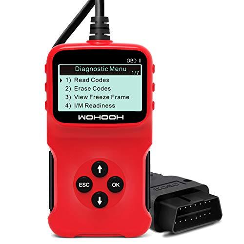 Wohooh Obd2 Diagnosegerät, Vcds Auslesegerät Auto OBD II Carly Adapter,OBD Code Scanner für Allen Autos mit OBD2, Eobd/CAN-Modi und 16-Pin Obdii-Schnittstelle,Unterstützung für 5 Sprachen