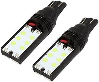 eDealMax 2 piezas de la cuña T10 12 SMD LED del bulbo del coche Blanco de