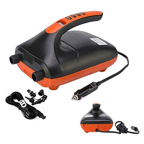 Braceletlxy 20PSI 12V DC Hochdruck-SUP-Pumpe, elektrische Luftpumpe, intelligente Hochdruckpumpe für Luftmatratzen, Schlauchboote, Zelt, Stand-Up-Paddle-Boards