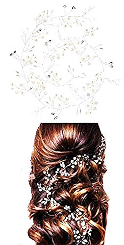 Bruids haarband - parels - kapsels - accessoires - bruidsmeisje - bruiloft - parels - draad - origineel cadeau-idee strass