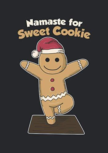Notizbuch A5 kariert mit Softcover Design: Namaste for Sweet Cookie, Namaste für Keks Yoga Weihnachten: 120 karierte DIN A5 Seiten