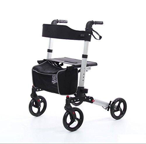 Wollex Plus Leichtgewichtrollator Faltbar mit Transporttasche (WG-R967)