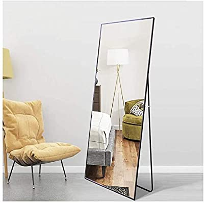 """Beauty4U Full Length Mirror Wall Mounted/Floor Mirror Black Dressing Mirror for Wall or Home Décor, 59"""" x 19.6"""""""