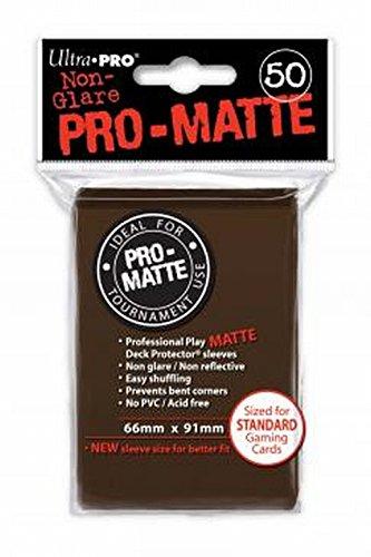 Ultra Pro Sleeves Pro D12 Juego de Cartas (marrón Mate)