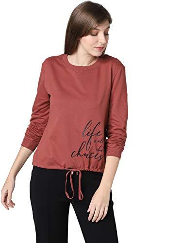 VERO MODA Women's Cotton Sweatshirt (2095458002_Mahogany_S)