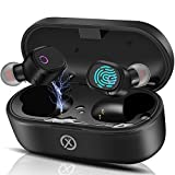 Bluetooth 5.0 True Wireless Earbuds,Touch Control TWS Stereo Headphones in Ear Built in Noise Cancellation Mic,IPX5 Waterproof, 35H Playtime,Auto Pairing,Single/Twin Mode