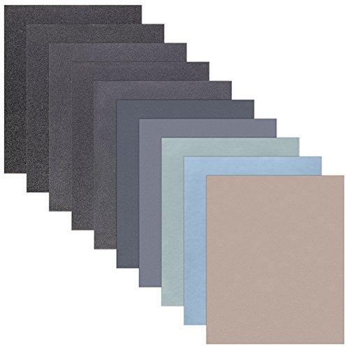 15 Blatt Schleifpapier Sortiment 230 x 280 mm P7000 P5000 P3000 P2000 P1000 Nass und Trocken Sandpapier